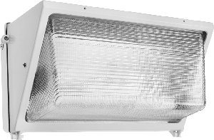 (RAB Lighting WP3H250PSQW/PC WP3 Metal Halide Wallpack with Glass Lens, ED28 Type, Aluminum, 250W Power, 25000 Lumens, 120V Button photocell, White)