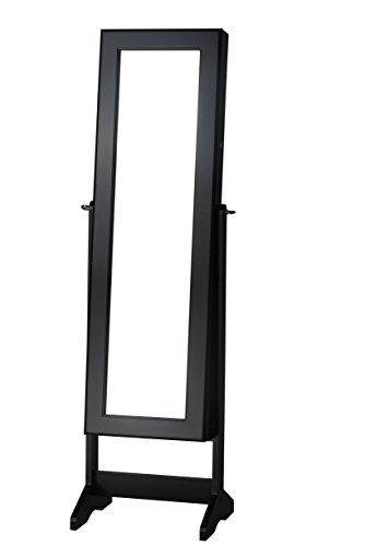 InnerSpace Luxury Products Cheval Free Standing Jewelry Armoire, Black by InnerSpace Luxury Products