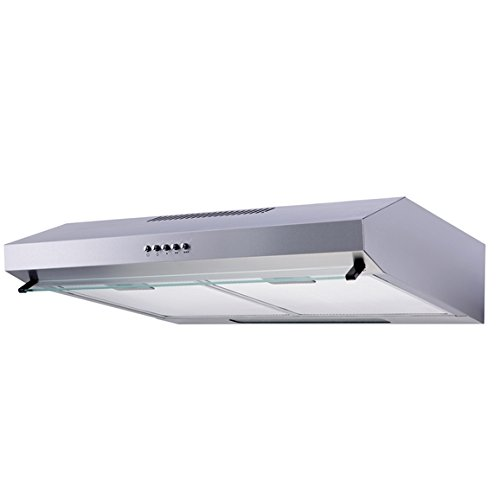 SIA ST60SS 60cm Visor Cooker Hood Kitchen Extractor Fan in Stainless Steel