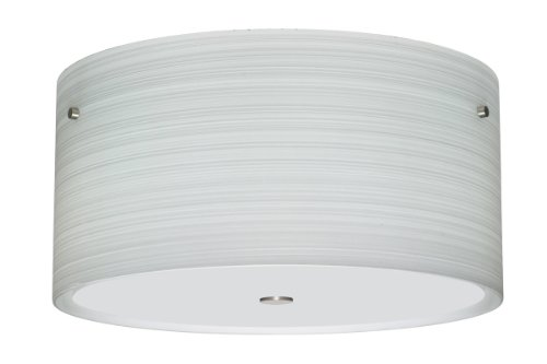 Besa Lighting 1KM-4008KR-SN Tamburo-16v2 - Three Light Ceiling Fixture, Choose Finish: SN: Satin Nickel, Choose Lamping Option: 60W Incandescent-A19 Medium-120v (Lighting Tamburo Ceiling)