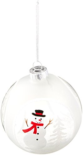 Demdaco 2020150705 Snowman Scene Glass Ball Ornament