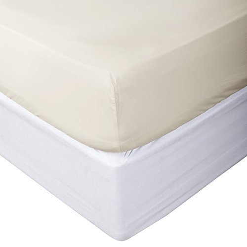 Flow's Linen 1 PC Fitted Sheet Fits 14-15 Inches Deep Pocket 1200 Thread Count 100% Egyptian Cotton { Solid Pattern } King 76 X 80 (Ivory)
