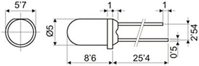 Pack de 100/unit/és LED 5/mm et 12/V Couleur Rouge Electro DH 12.675//5//12//Ralt 8430552059980
