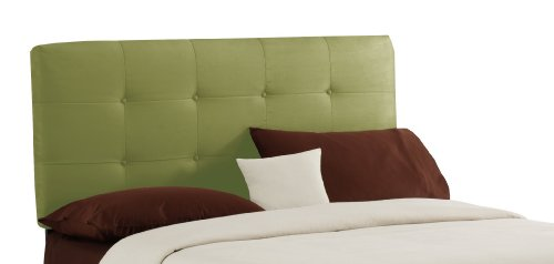 Skyline Furniture Surrey Queen Micro-Suede-Upholstered Tufted Headboard, Sage by Skyline Furniture