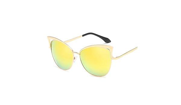 8865765cb1 Amazon.com  HONGLIAN New Cat Glasses Sunglasses Fashion Trend Sunglasses  Unisex Color Film Cat Ears Sunglasses Outdoor Sports Driving (Color    Yellow)  ...