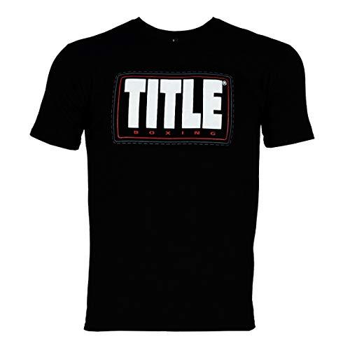 Title Boxing Label Tee, Black, Large