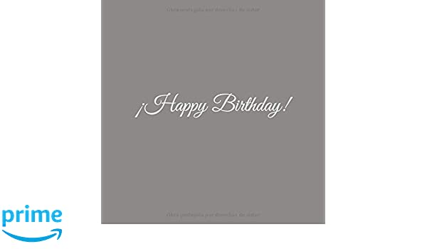 Amazon.com: Happy Birthday: Libro De Visitas Happy Birthday ...