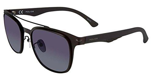 Sunglasses Police BLACKBIRD LIGHT 1 SPL356 S08P Unisex Black Square Polarized