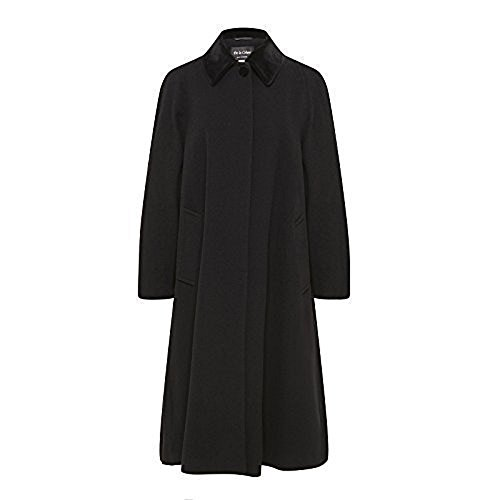De la Crème – Women's Wool and Cashmere Blend Swing Winter Coat, Black, Size 12