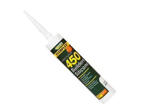 (Everbuild 450BL Builders Silicone Sealant 450 310 ml - Black)