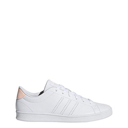 online store 777a0 fa6d4 adidas Womens Advantage Clean QT Sneakers, Footwear WhiteFootwear  WhiteClear Orange,
