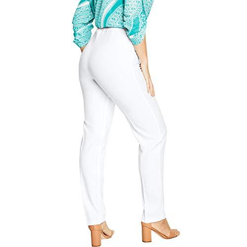 Roamans Women's Plus Size Petite Bend Over Classic Pant - White, 22 WP