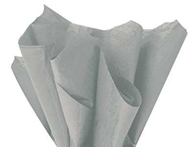 "GREY GRAY Bulk Tissue Paper 15"" x 20"" - 100 Sheets"
