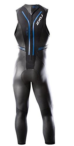 2XU Men's A:1 Active Sleeveless Wetsuit, Small/Medium, Black/Cobalt Blue by 2XU (Image #2)