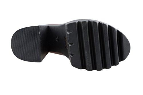 tobillo botas Grupo Bordo de tacon elastico Chunky mujeres en Eyekepper de lado antideslizante HwqPWpg