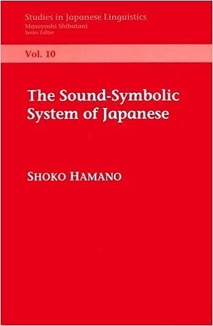 Descargar libros gratis en línea para el teléfonoThe Sound-Symbolic System of Japanese (Center for the Study of Language and Information - Lecture Notes) by Shoko Hamano en español PDF RTF DJVU
