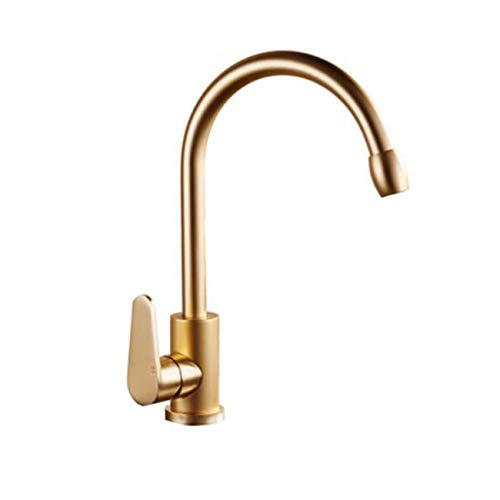 SUNQIAN-Gold kitchen faucet, kitchen faucet, sink faucet, cold and hot water tap