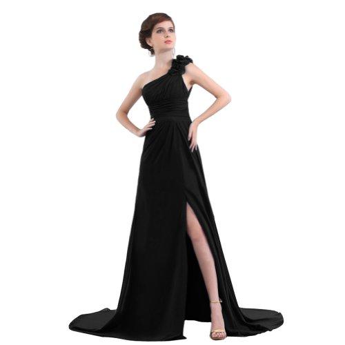 Sunvary lungo Black anteriore Sexy spalla da Una formale sera Furcal abito 7r7xYvgqw