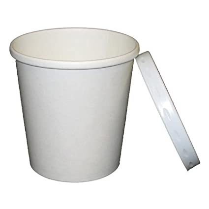 Amazoncom 12 oz White Paper Heavy Duty Containers With Plastic
