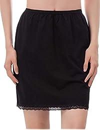 Kancy Kole Ladies Short Half Slip Stretch Lace Cotton Underskirt Skirt