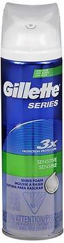 Gillette Series Shave Foam Sensitive - 9 oz, Pack of (Gillette Series Shaving Foam)