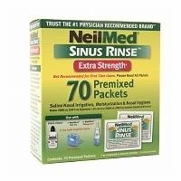 NeilMed Sinus Rinse Premixed Packets, Extra Strength, 70 ea Pack of 2