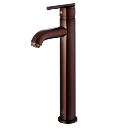VIGO VG03009RB Seville Solid Brass Single Handle Vessel Basin Faucet, High Arc Single Hole Install, Premium 7-Layer Plated Oil-Rubbed Bronze Finish (Seville Bathroom Vanity Collection)