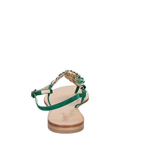 Calpierre Calpierre Woman Suede Green Sandals Sandals xpwY7Cwvq
