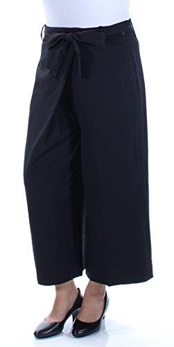 Anne Klein Women's Wide Leg Tie Front Pant, Black 14