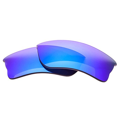 LenzFlip Replacement Lenses for Oakley QUARTER JACKET - Gray Polarized with Blue Mirror - Oakley Polarized Jacket Lenses Quarter