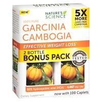Nature's Science Garcinia Cambogia Effective Weight Loss Bonus Pack, Caplets, 100 ea Pack of 2