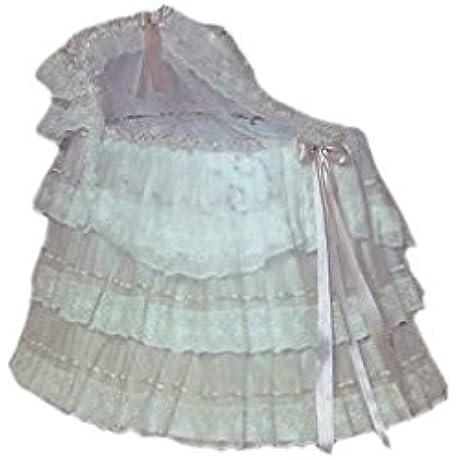 BabyDoll Ribbons And Lace Bassinet Set Pink Ribbon 35 5 X 18 3 X 47
