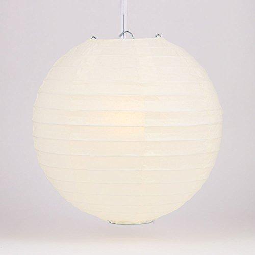 (Quasimoon PaperLanternStore.com 36 Inch Beige/Ivory Round Paper Lantern, Even Ribbing, Hanging Decoration )
