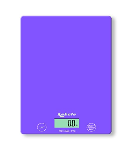 Kabalo 5kg Purple Digital LCD Electronic Kitchen Cooking Baking Prep Food Preparation Weighing Scales UK (Best Kitchen Scales Uk)