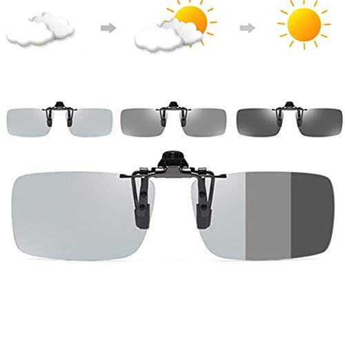 Photochromic Polarised Clip On Flip Sunglasses Polarized Fishing Eyewear