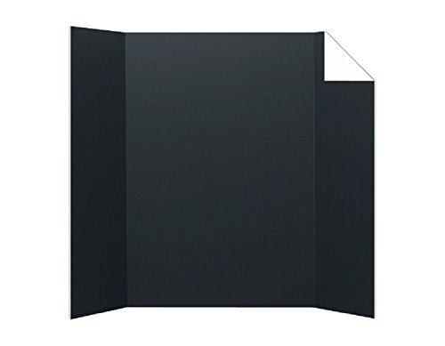Pack of 24 Black/White Corrugated Project Boards (1-Ply; 36x48in) by Flipside