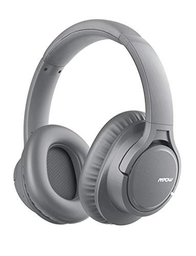 Mpow H7 Bluetooth Headphones, Stereo Wireless Over-Ear Headphones with Microphone, Memory-protein Ear Cushions for Cellphone/Tablets/PC/TV