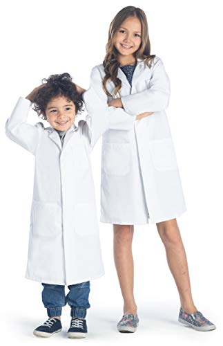 Dr. James Kid's Unisex Lab Coat with Safety Snap Buttons US-05-10/12 White (Youth Lab Coat)