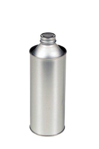 Vestil BTL-MT-16 Tin-Plated Steel Round Metal Bottle with Screw On Cap, 16 oz Capacity, Silver by Vestil