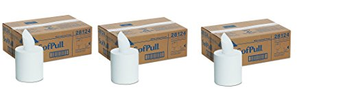 Georgia-Pacific GPC28124 Professional SofPull Center-Pull Perforated Paper Towels,7 4/5x15, White, 320 Per Roll (Case of 6 Rolls) (.3 ()