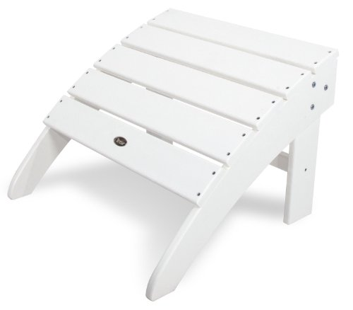 Trex Outdoor Furniture Cape Cod Classic White Ottoman by Trex Outdoor Furniture by Polywood