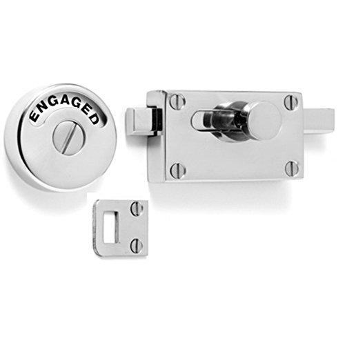 BATHROOM / TOILET INDICATOR DOOR BOLT VACANT / ENGAGED LOCK - POLISHED CHROME (B2947) by Triple A Online Ltd