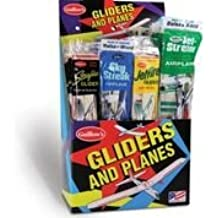 Five Balsa Wood Toy Airplanes