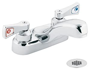 Moen 8218 Commercial M-Dura 4-Inch Centerset Lavatory Faucet with Grid Strainer 2.2 gpm, Chrome 80%OFF