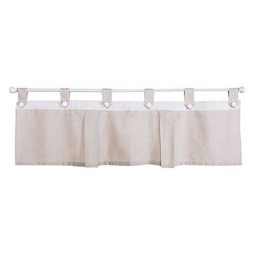 Trend Lab Quinn Window Valance, Tan/White
