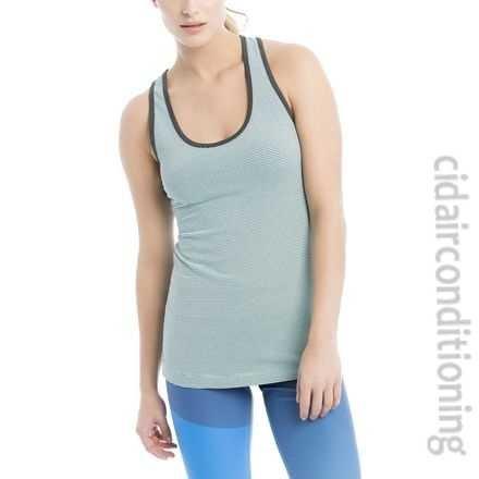 Lole Women's Twist Tank Top, Aruba Blue Stripe, Small