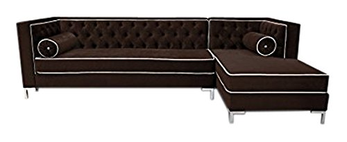 Fabulous Amazon Com Decenni Tobias 8 Foot Tufted Right Arm Chaise Short Links Chair Design For Home Short Linksinfo