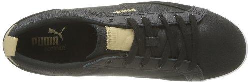 Black Cordones de negro Series Gold hombre Noir de Puma Slim Court cuero Citi Zapatos X4wnY7Fq
