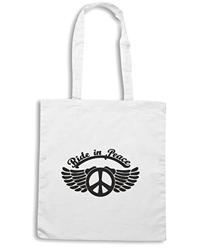 IN TB0133 Borsa Shopper RIDE PEACE Bianca xqIIHZ