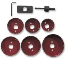 HOLESAW KIT, DOWNLIGHTER KIT 8PC 58143 By ROLSON TOOLS